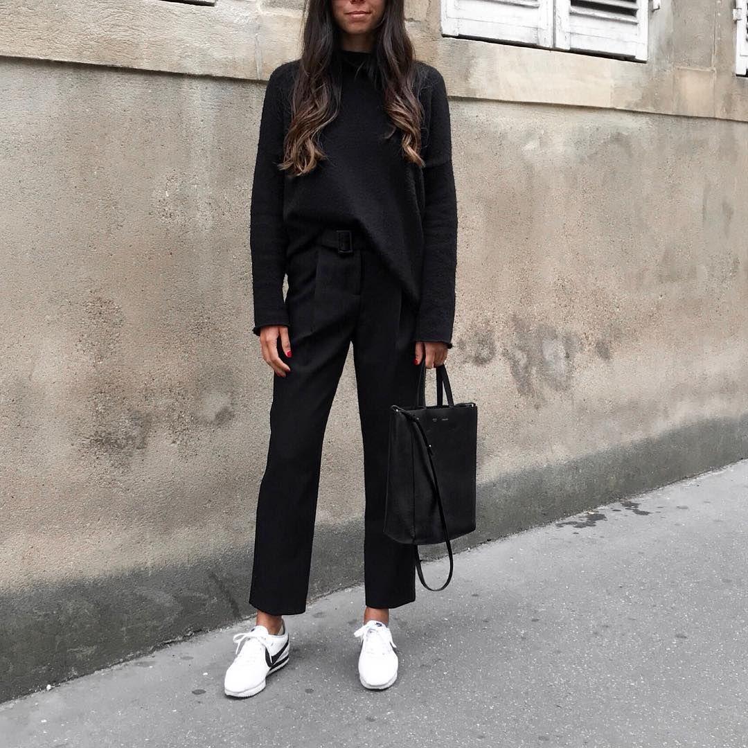 """191 mentions J'aime, 9 commentaires - ➖ (@ragsxwanders) sur Instagram: """"Un autre OOTD signé 57RPZ  Pull #frenchconnection  Pantalon ❤️#maje Sac #celine  Basket #cortez…"""""""