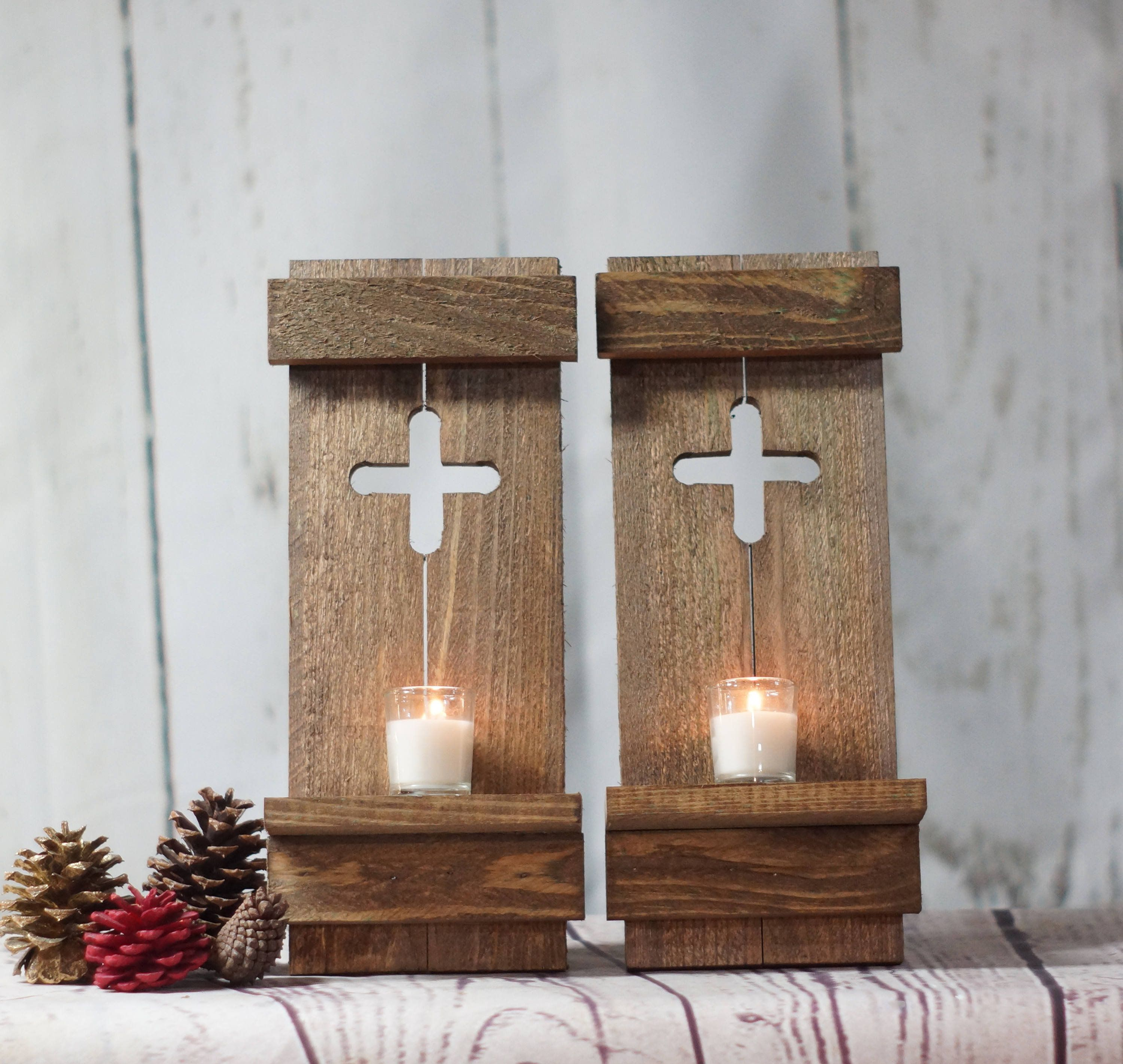 etsy sconce wall barn on repurposed candle brass sconces ahisalvage wood by