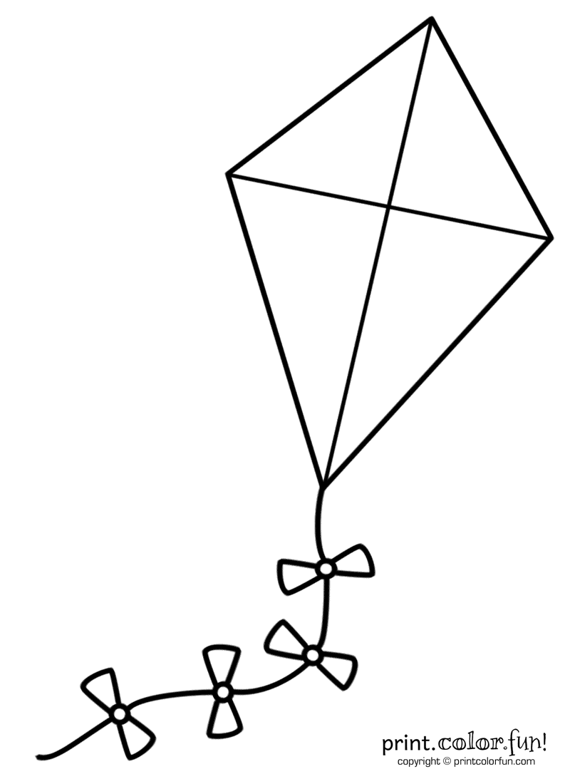 Big Kite Coloring Page Print Color Fun Big Kites Kite Template Coloring Pages