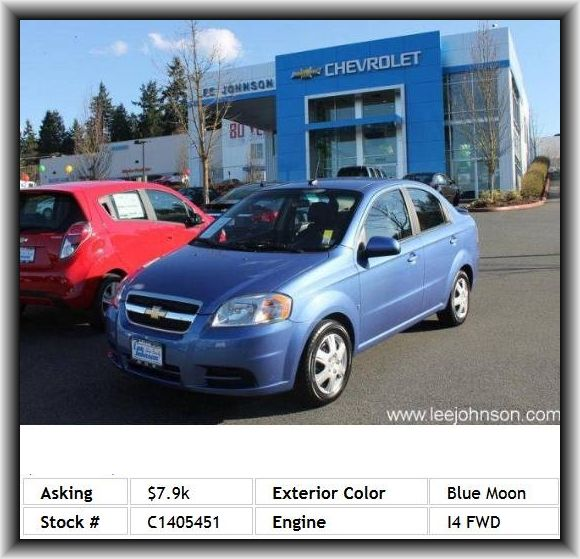 2009 Chevrolet Aveo Ls Sedan Wheelbase 97 6 568 Lbs Rear Bench Tire Pressure Monitoring Sy Chevrolet Aveo Tire Pressure Monitoring System Types Of Doors