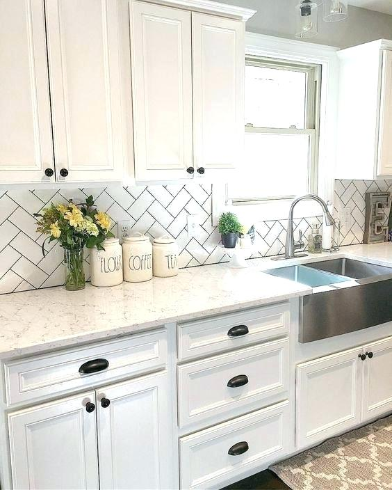 Farmhouse White Kitchen Cabinet Remodel Remodel Kitchen Sink And