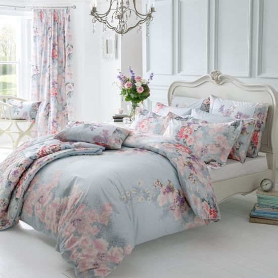 Dorma Bedding Set Kimono Beautiful Floral And Duck Egg Bedding X Bedroom Queen Bedding Sets Bedding Sets Bed
