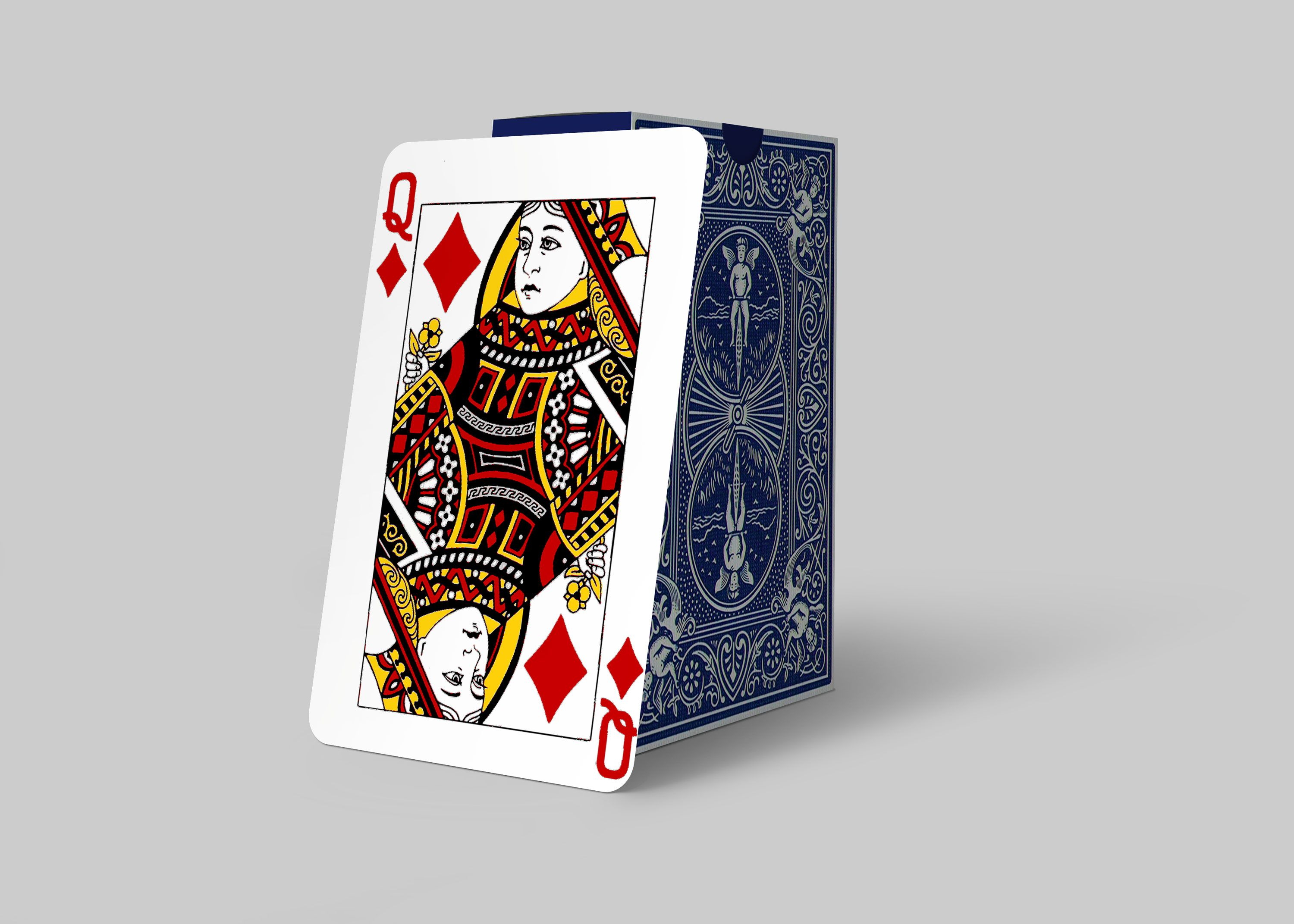 Free Playing Card Queen Card Design Mockup Mockup Free Psd Mockup Design Free Mockup