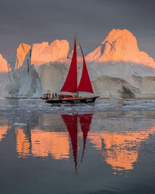 Greenland by Tristan Lavender Boat art, Sailing, Boat