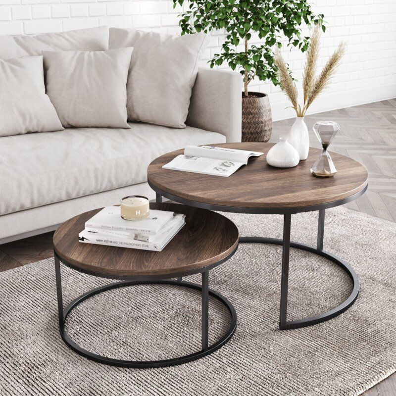 Maywood Frame 2 Nesting Tables In 2020 Table Decor Living Room Round Coffee Table Living Room Living Room Coffee Table