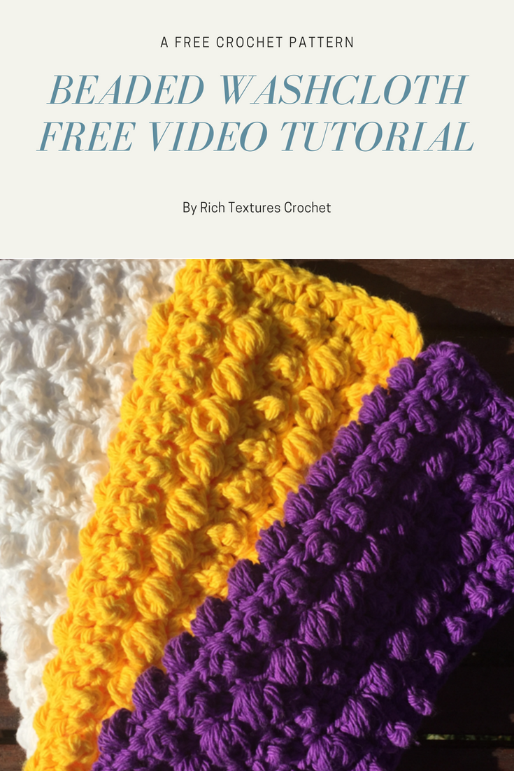 this is a free video tutorial for the beaded washcloth crochet pattern crochet video - Hakelmutzen Muster