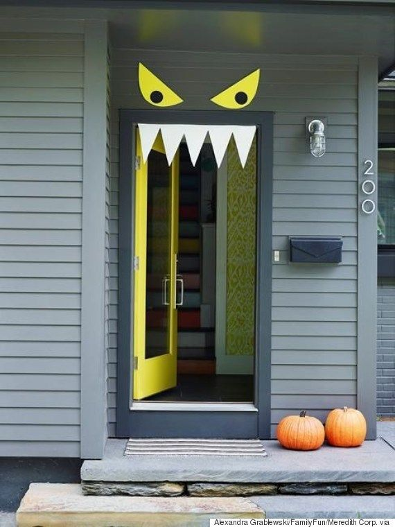 Monster Door Via Pretty My Party Halloween 2018, Diy Halloween Costumes For  Kids, Entree