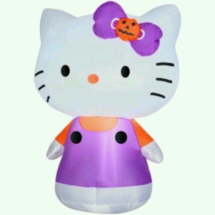 Hello Kitty 4ft Halloween Airblown Inflatable My Hello Kitty - hello kitty halloween decorations