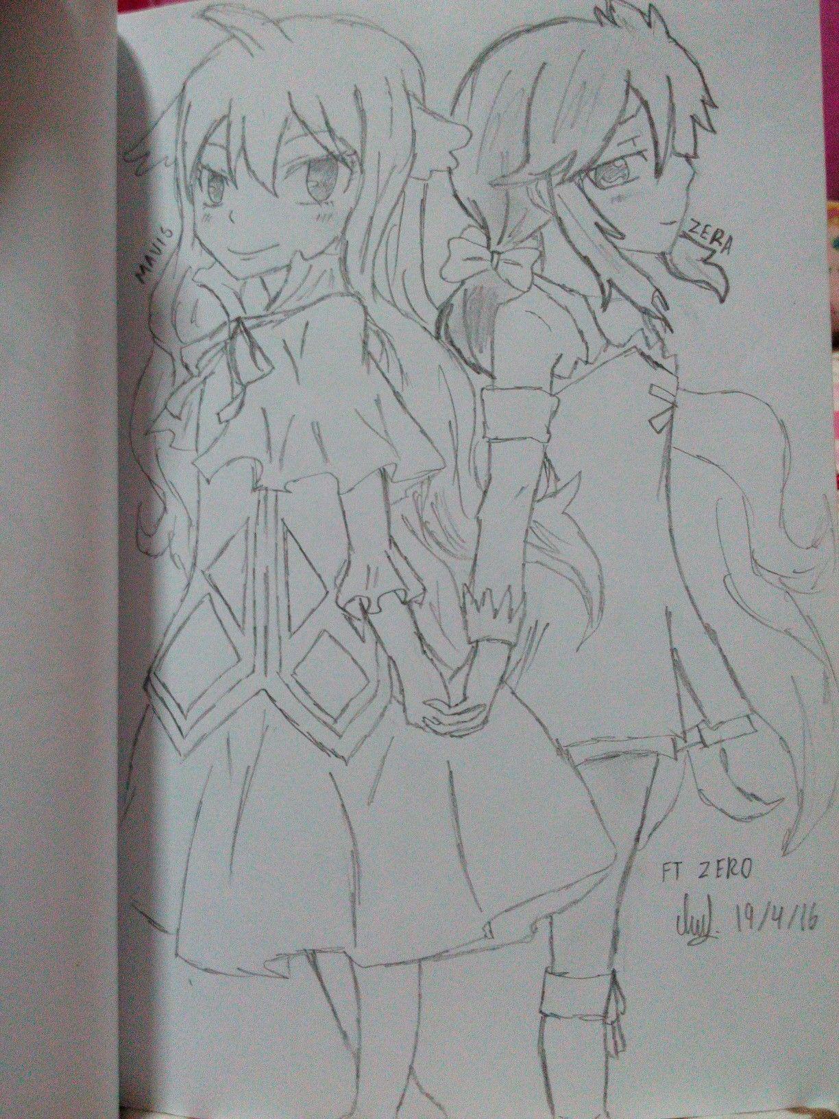 Mavis and Zera... fairy tail zero
