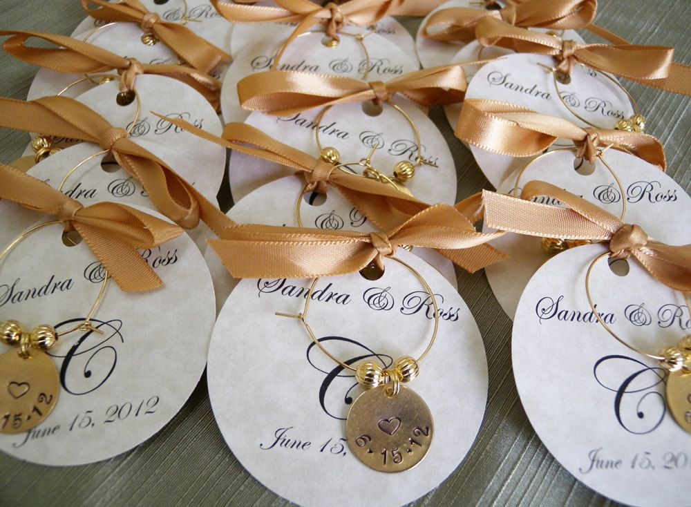 Wedding Favors Personalized Wine Charms Custom Words Party Favors