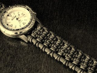 A Solomon Ladder Paracord Watchband Bracelet Paracord