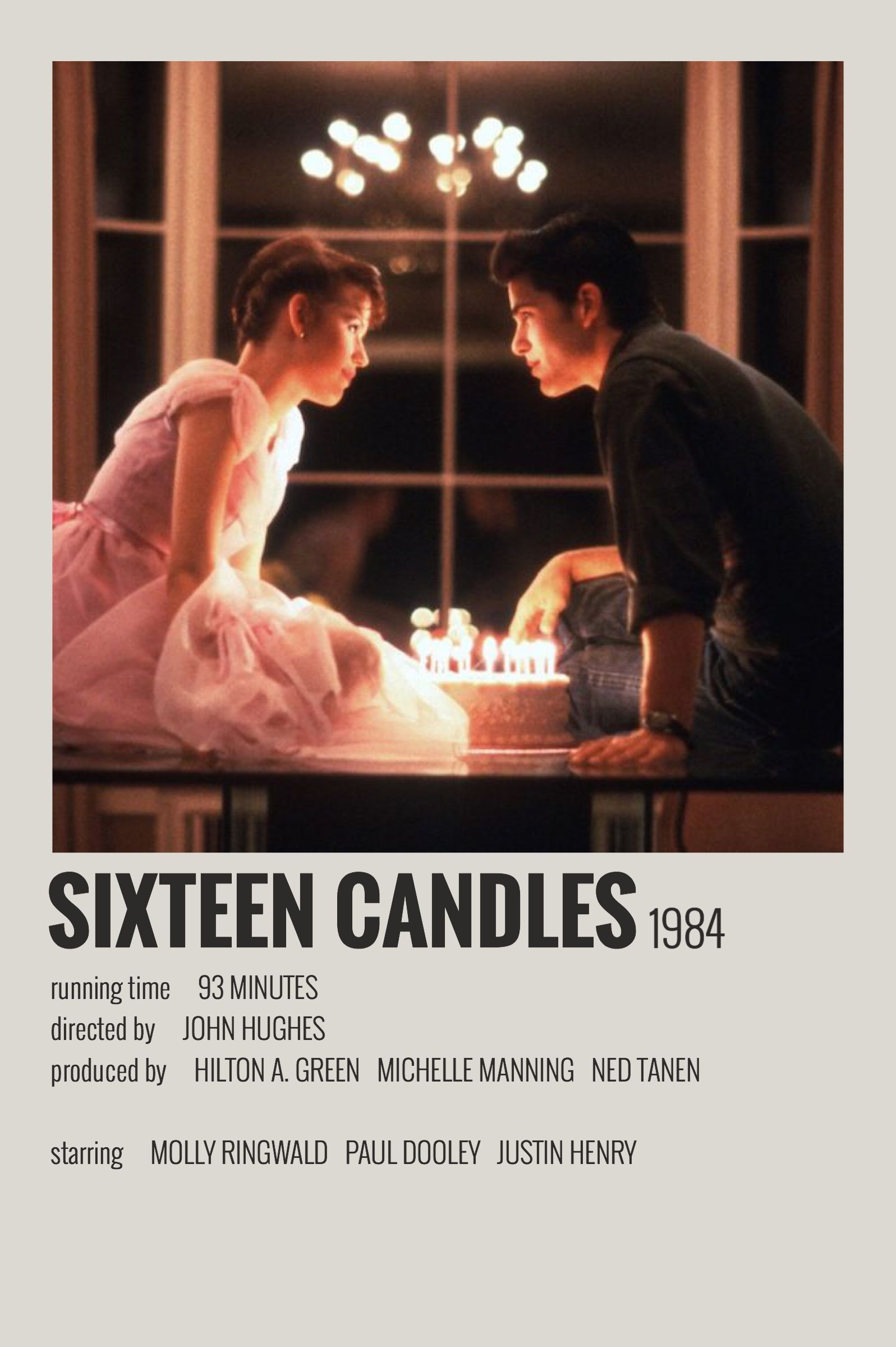 Alternative Minimalist Movie Show Polaroid Poster Sixteen Candles In 2020 Movie Poster Wall Film Posters Vintage Iconic Movie Posters