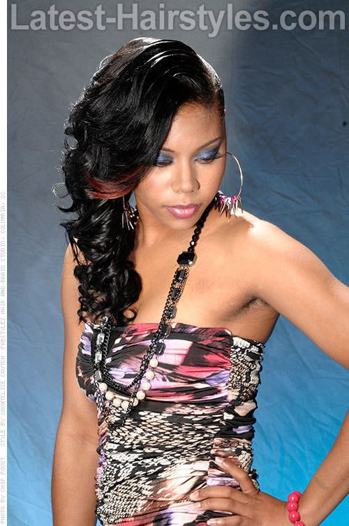 Black Hairstyles The 30 Sexiest Styles For Black Women Hair Styles Side Curls Hairstyles Long Hair Styles