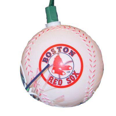 Kurt Adler 10 Light Red Sox Baseball Lights