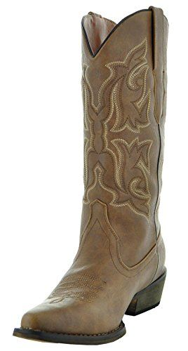 c7ce5ca80 Country Love Pointed Toe Women's Cowboy Boots W101-1001 (9, Brown ...