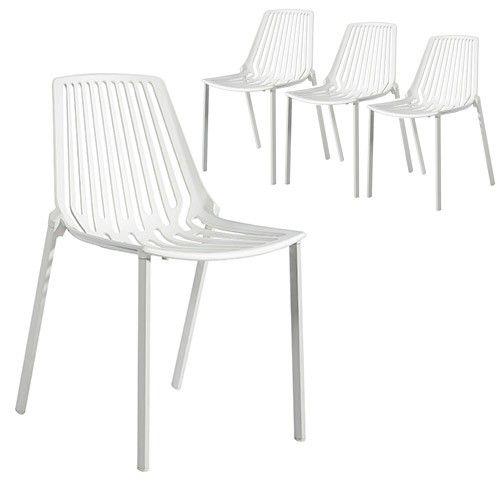 Set Of 4   Hudson Chair   White