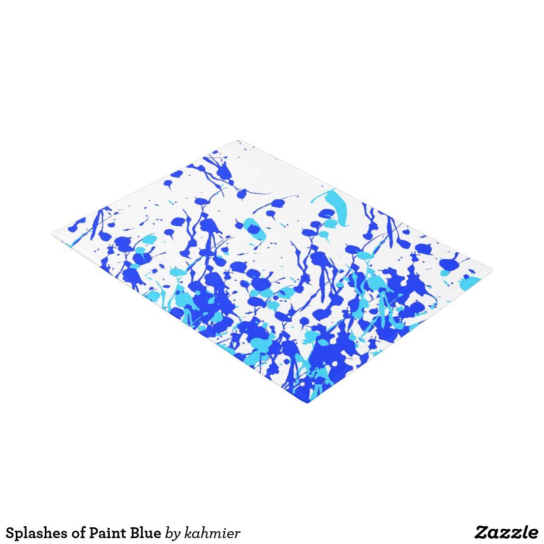 Splashes of paint blue doormat marketing pin pal board pinterest