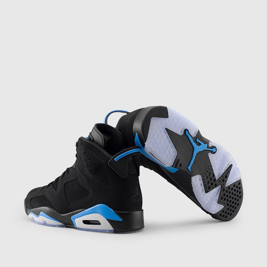 Jordan Men S Air Jordan 6 Retro Unc Black University Blue Back Air Jordans Jordan 6 University Blue