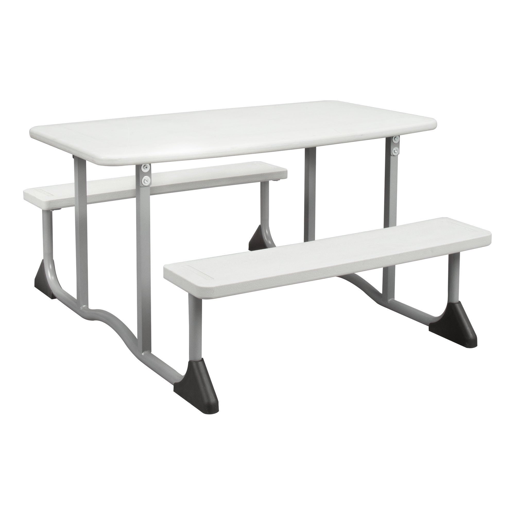 Surprising Sprogs Childrens Blow Molded Picnic Table Gray Spg Fei1054 Lamtechconsult Wood Chair Design Ideas Lamtechconsultcom