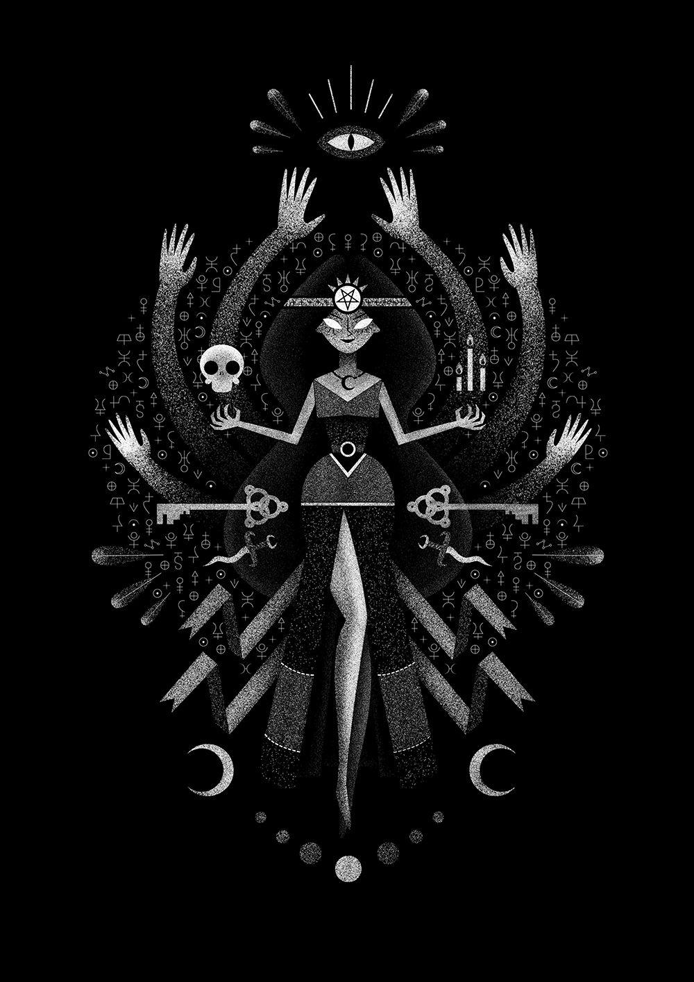 Black Magic On Behance Black Magic Witchy Wallpaper Magic Aesthetic