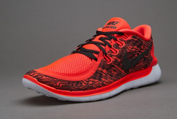 Nike Free 5.0 Print - Mens Shoes - Bright Crimson/Black-White