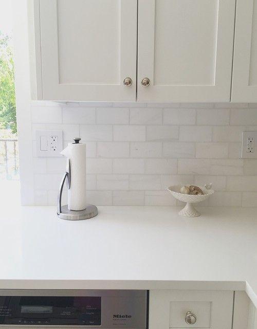 Caesarstone Pure White Polished White Kitchen Countertops White