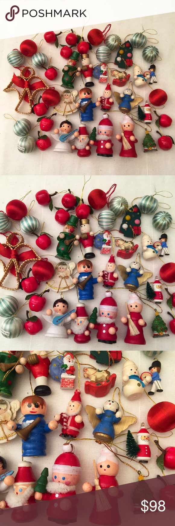 Miniature Vintage Christmas Ornament Lot Retro 60s in 2020