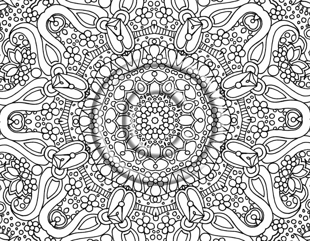 Hard Coloring Pages Free Large Images Bestofcoloring Com