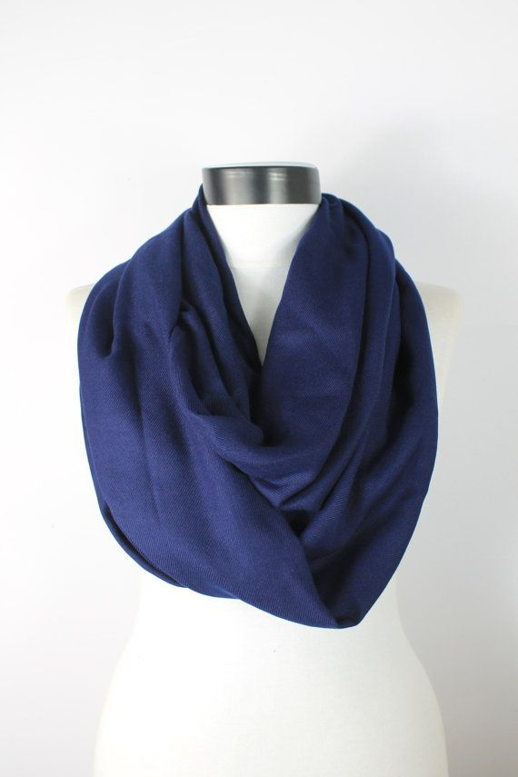 navy scarfblue scarfInfinity scarfpashmina by twobirdsgirl on Etsy