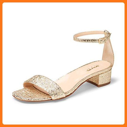 Open Xyd Dress Heel Ankle Low Women Block Sandals Pumps Solid Strap 80wOPkXn