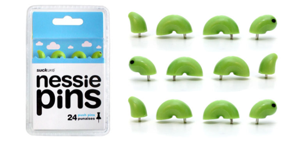 Quirky Item of the Week: Nessie Push Pins   The Daily Quirk   (Image Credit: SUCK UK)