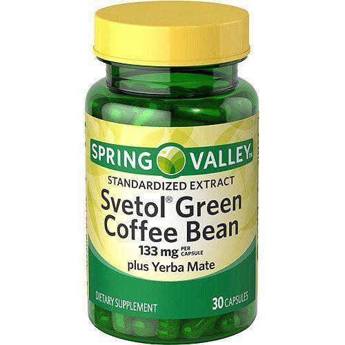 Spring Valley Svetol Green Coffee Bean Plus Yerba Mate Capsules