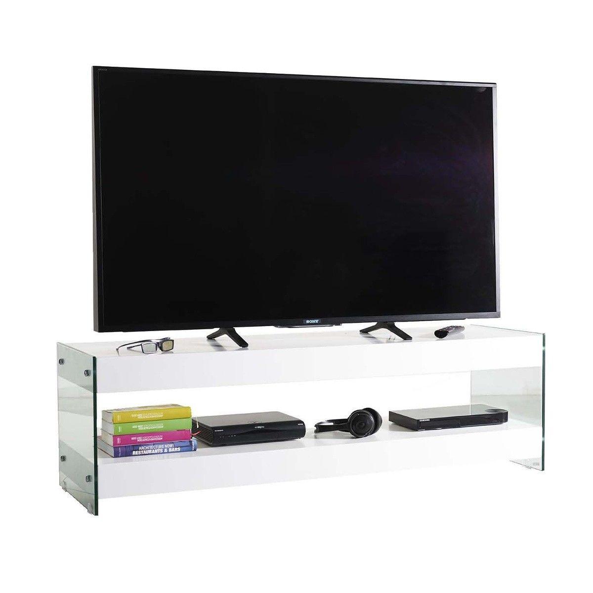 Mobile+porta+TV+Dapper+in+legno+e+vetro+bianco+150+o+200+cm ...