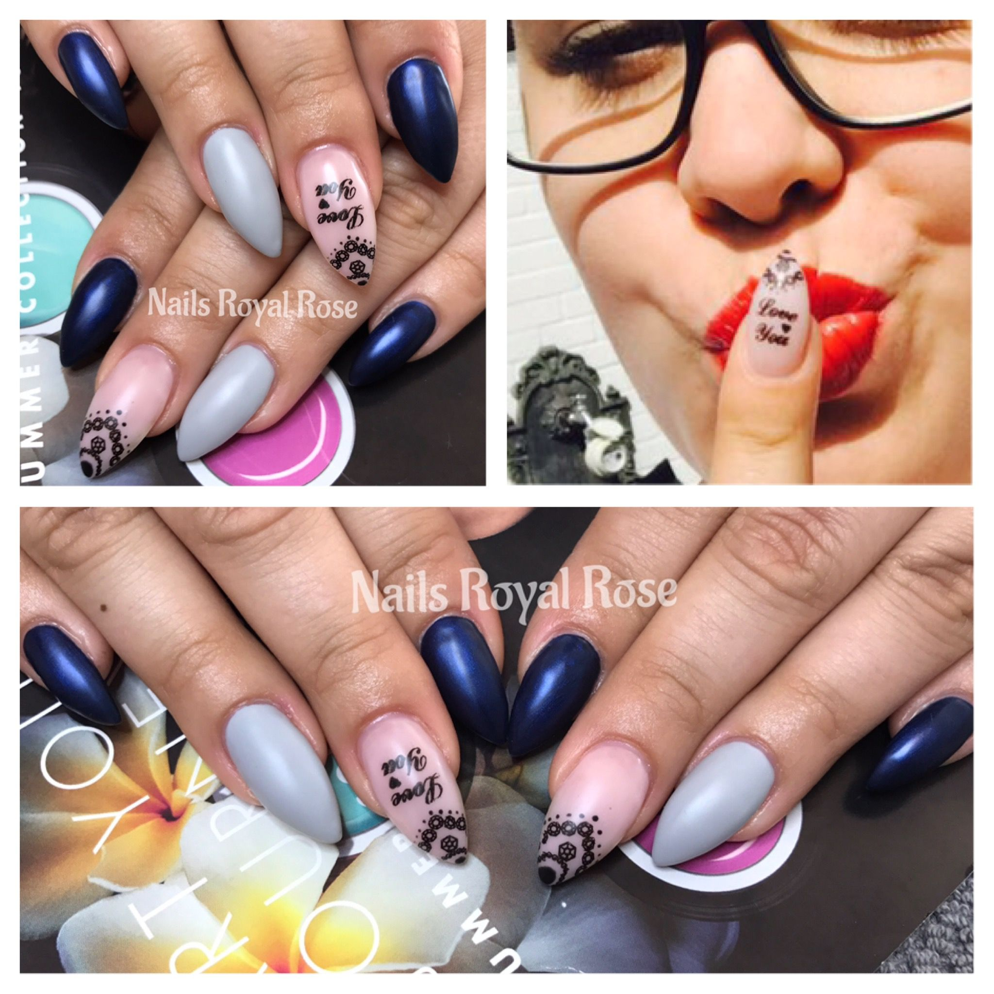 Nails , Nägel, Nagelmodellage, Nails Royal Rose, Nailart, Glitter ...