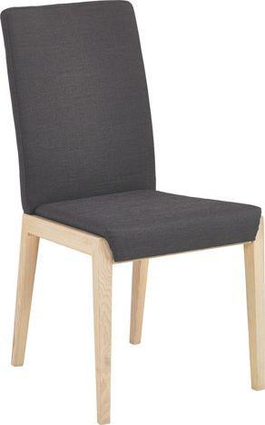 Stuhl mit grauer Stofflehne: formschön aus Kernesche   Wohnzimmer ...