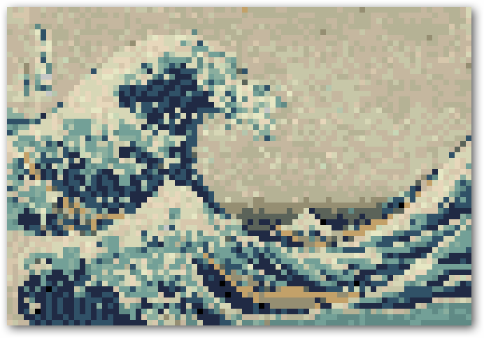 Create Cool 8-Bit Style Pixel Art from Ordinary Images. If I ever get photoshop, this would be a fantastic way to create cross stitch patterns.