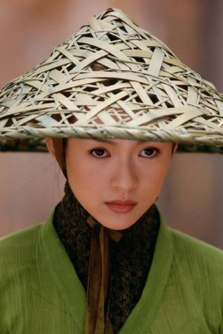 Oriental Chinese Bamboo Pointed Rice Hat