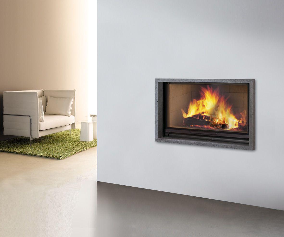 chemin e chromo cadre en lave de volvic et foyer atra 16. Black Bedroom Furniture Sets. Home Design Ideas