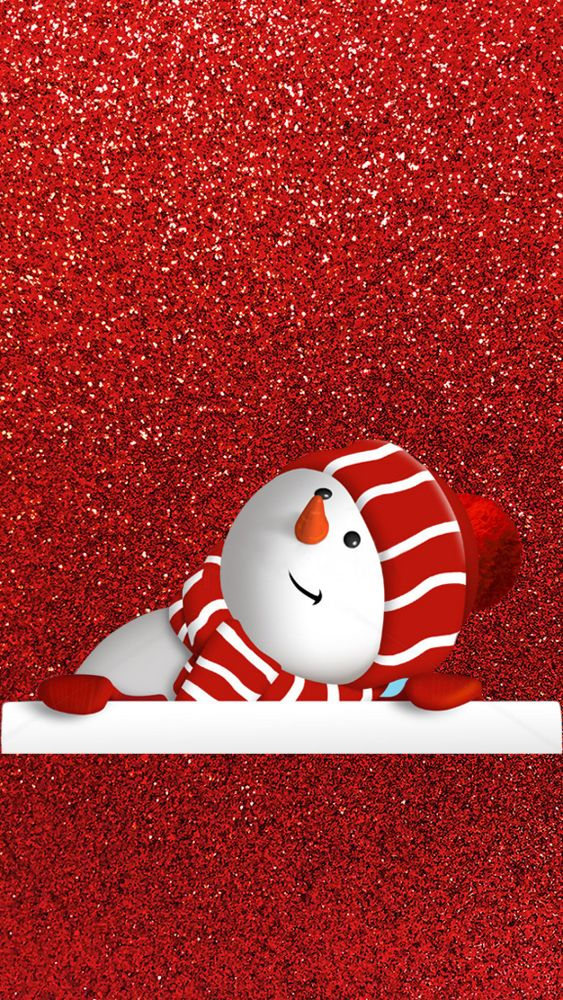 Phone Wallpaper Red Sparkle With Snowman Christmas Phone Wallpaper Cute Christmas Wallpaper Wallpaper Iphone Christmas