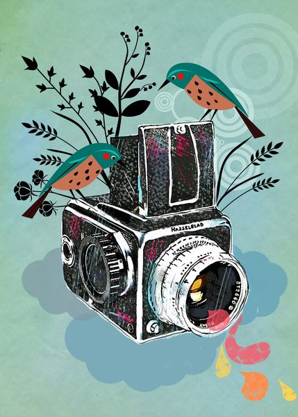 Vintage Camera Hasselblad Framed Art Print by Elisandra | Society6