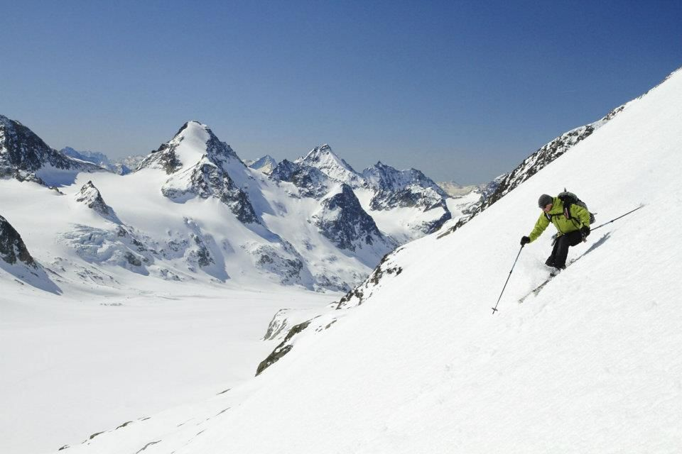 Mike Hattrup on the Haute Route, ski touring between