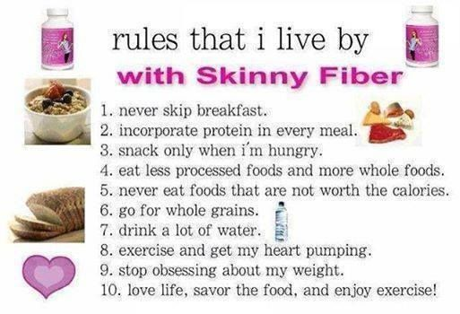 Seven Steps to Weight Loss with Skinny Fiber - Changing Lives One Pound At A Time