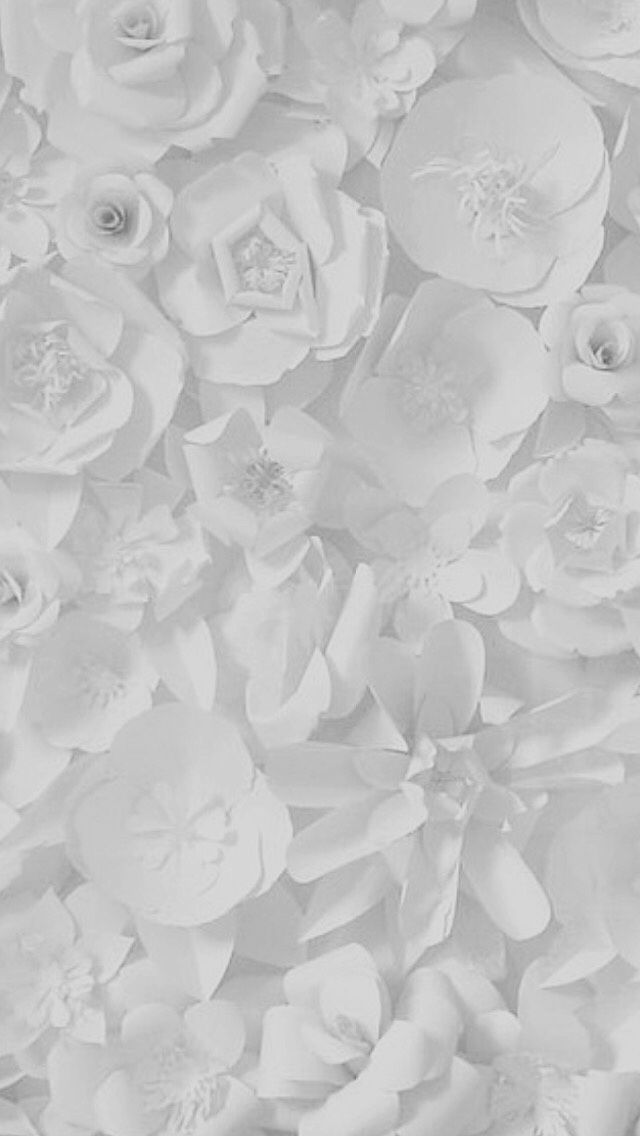 Grey White Floral Flowers Wedding Girly Classy Black Text In 2021 Wallpaper Backgrounds Mobile Wallpaper Paper Art
