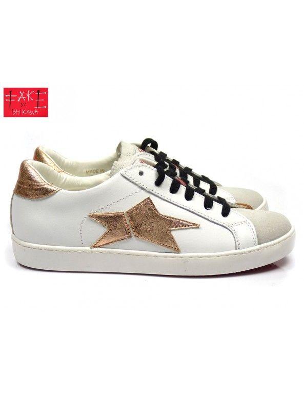 Mooie Kinderschoenen.Fake By Ishikawa Low Sneaker Goud Kinderschoenen Trainers