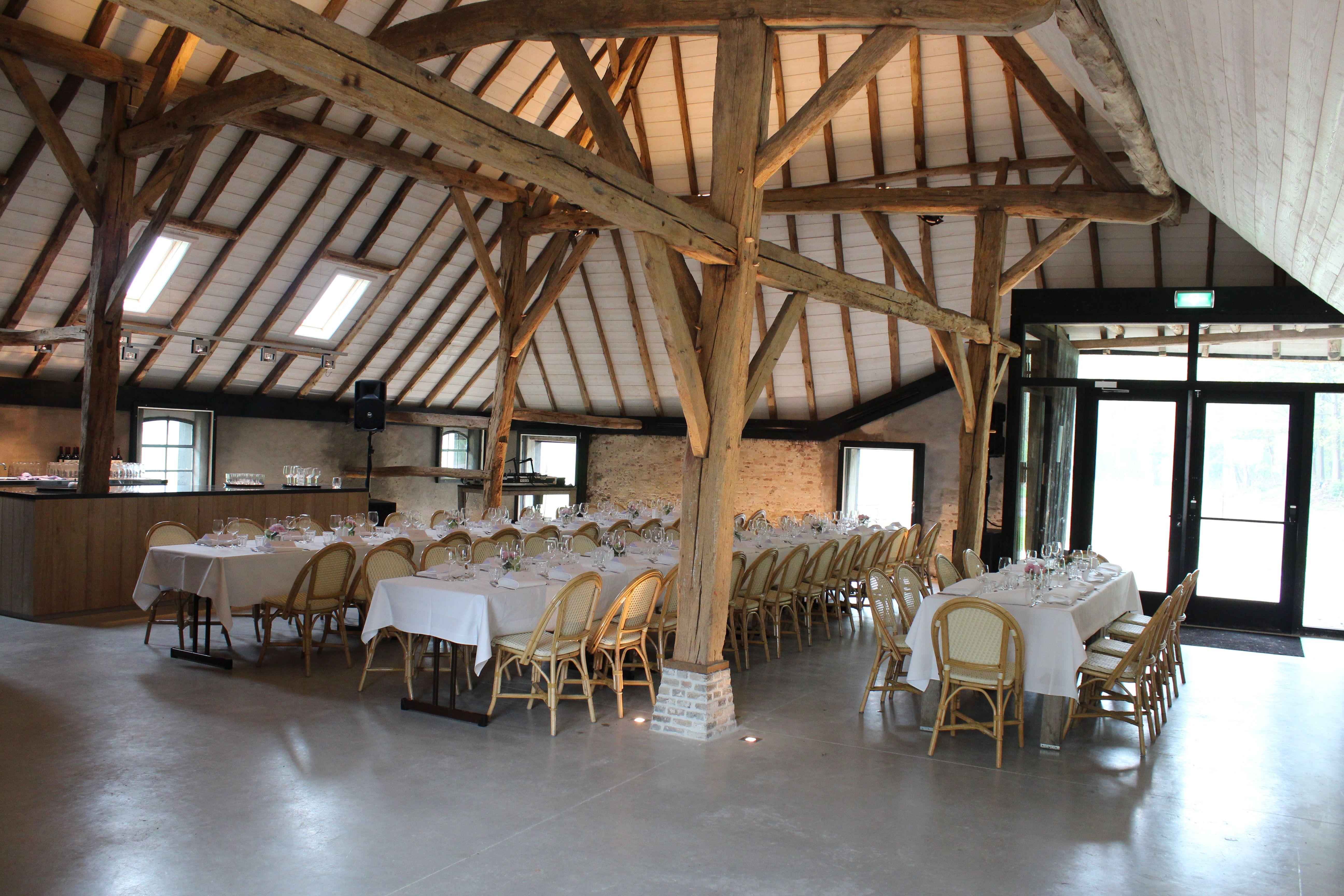 Renovated Barns Interieur Vlaamse Schuur Na Restauratie Landgoed Ulvenhart Aan De