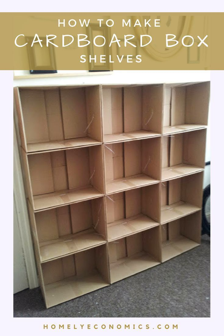 How To Make Cardboard Box Shelves -   19 cardboard crafts organizers ideas