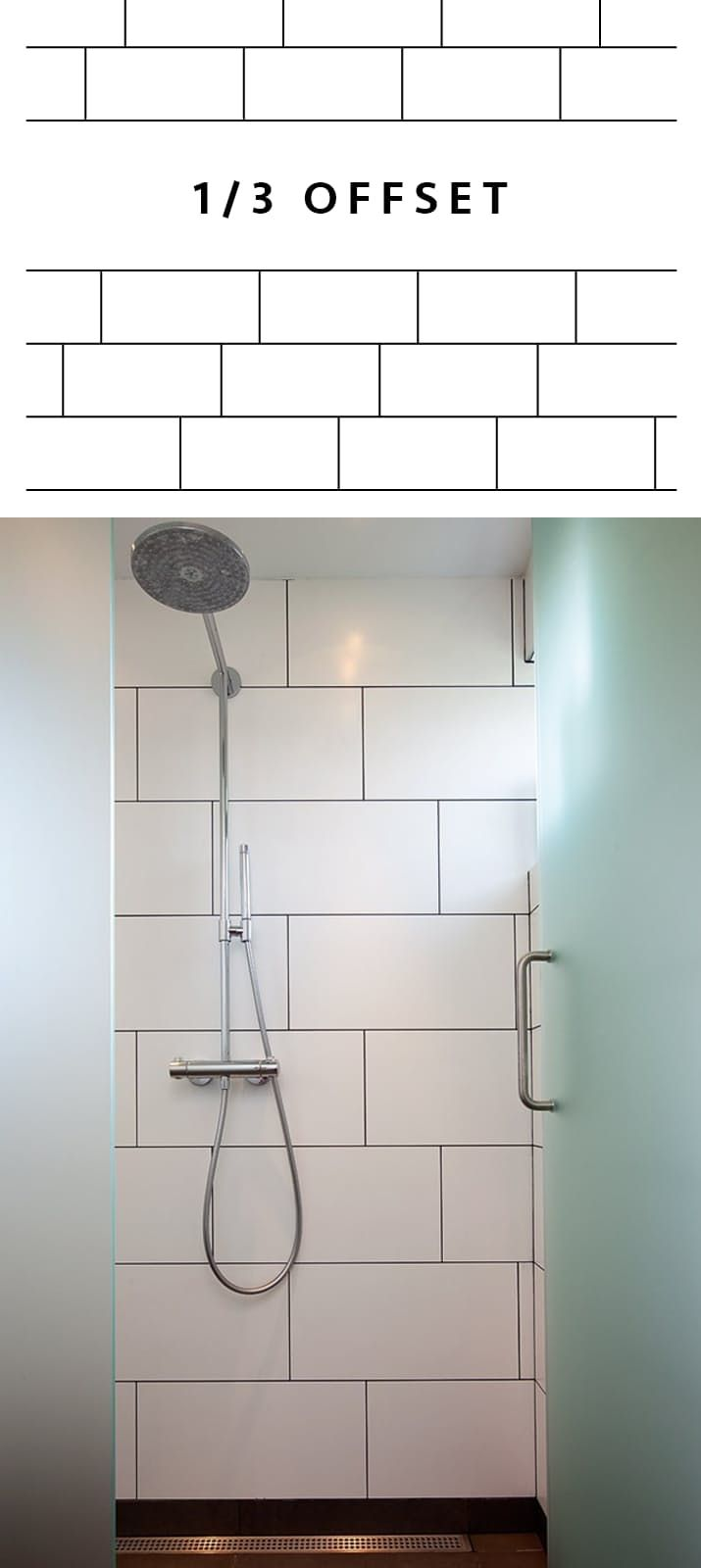 Pick Your Pattern A Visual Guide To Tile Layouts Tile Layout Trendy Bathroom Tiles Large Shower Tile