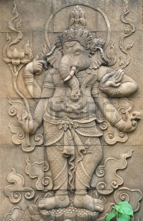 Classi stone sculpture of indian god ganesh