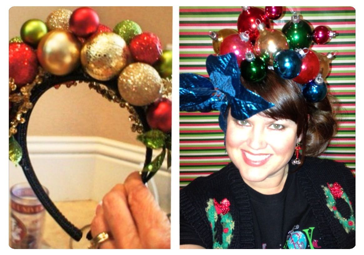 Nailed it!!!! Love my new headband for my ugly Christmas sweater ...