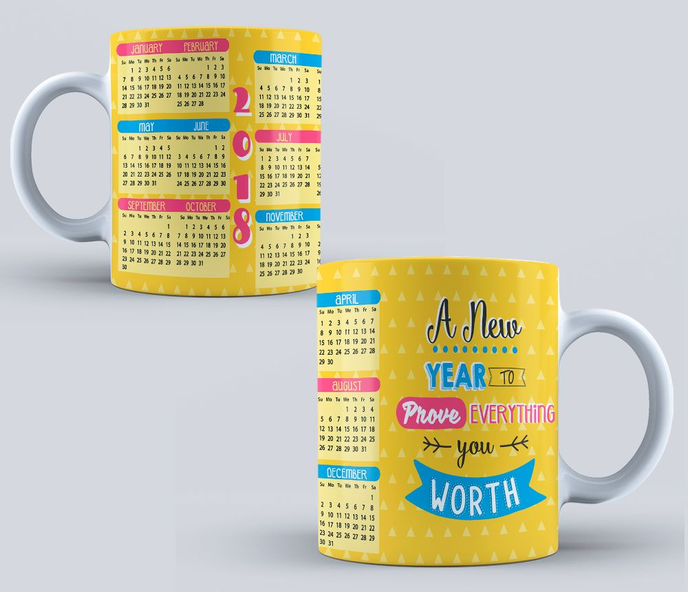 psd calendario 2018 sublimation templates calendar for mug